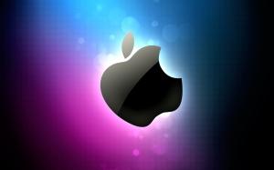apple pink blue wallpaper